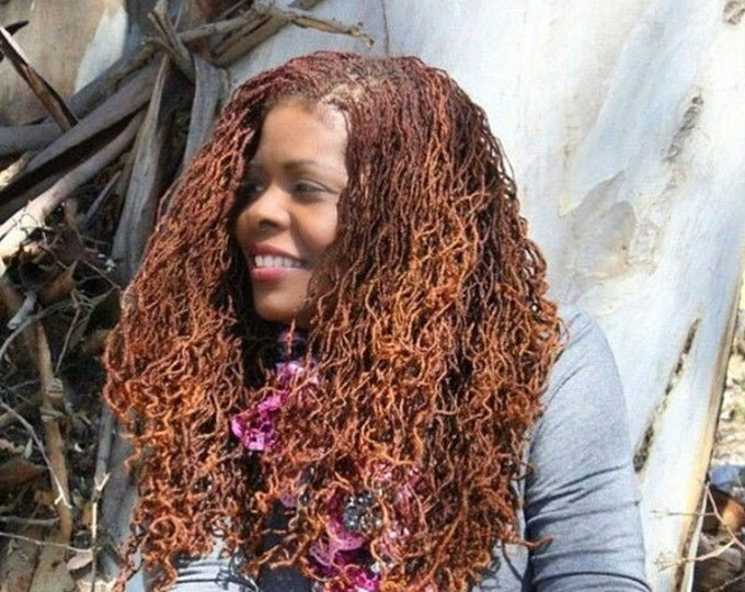 "CUSTOM MICROLOC EXTENSIONS - 20""- 50 pieces  - Afro Kinky 100% Human Hair"