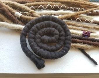 DREADLOCKS HAIR TIE - Spiralocs Felted Hair Tie Wrap for Dreadlocks - Colorful Bendable Dread Ties - Dreadlock Accessory - Bendable Hair Tie