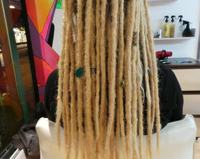 "20""- 10 pieces- 100% Human Hair Permanent Dreadlock Extensions"