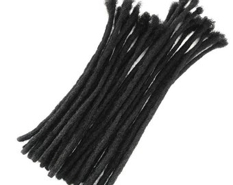 """NATURAL LOC EXTENSIONS - 20""""- 100% Afro Kinky Human Hair"""