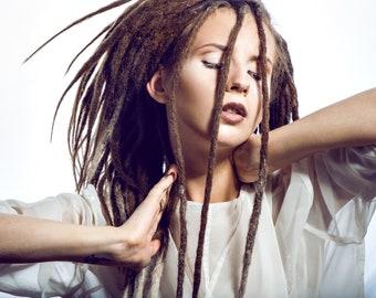 "NATURAL DREADLOCK EXTENSIONS - 20"" - 100% Human Hair"