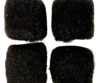 AFRO KINKY HAIR - 100% Human Hair Bulk - 4 Packs Discount - 4B 4C 4D Natural Hair For Making Dreadlocks