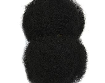 "AFRO KINKY HAIR - 100% Afro Kinky Bulk Human Hair For Dreadlocks, Loc Repair, Extensions, Twist, How To Make Locs,  8"" Long Bulk Afro Hair"