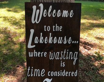 Large wooden sign