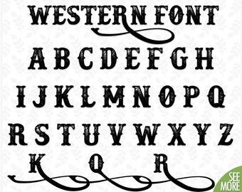 Western font | Etsy