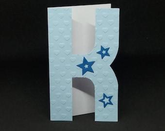 J, K, L, Birthday card letter Initial
