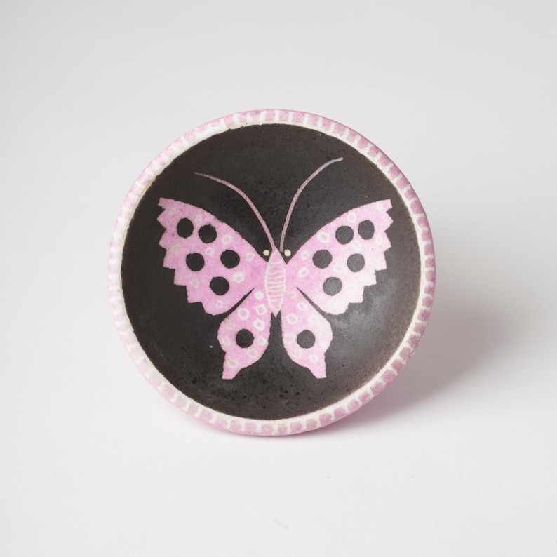 Waylande Gregory hand painted Butterfly Dish from the 1940/'s