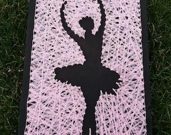 Silhouette Ballerina String Art