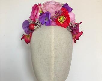 Suffolk Sunrise festival flower crown headdress hairband