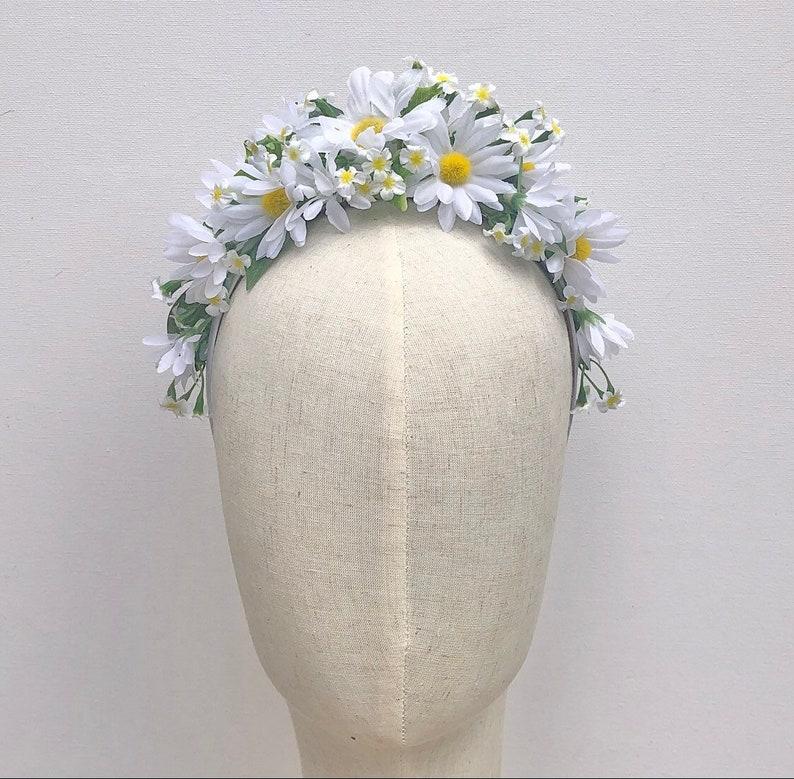 Daisy Daisy boho hairband floral crown image 0