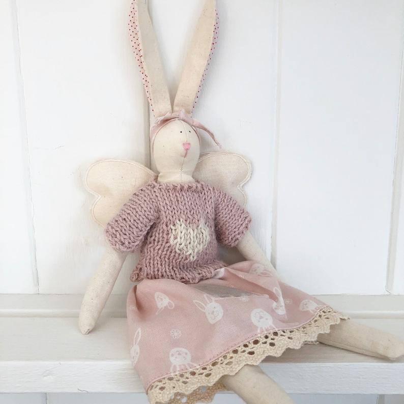 Handmade tilda tooth fairy bunny image 0