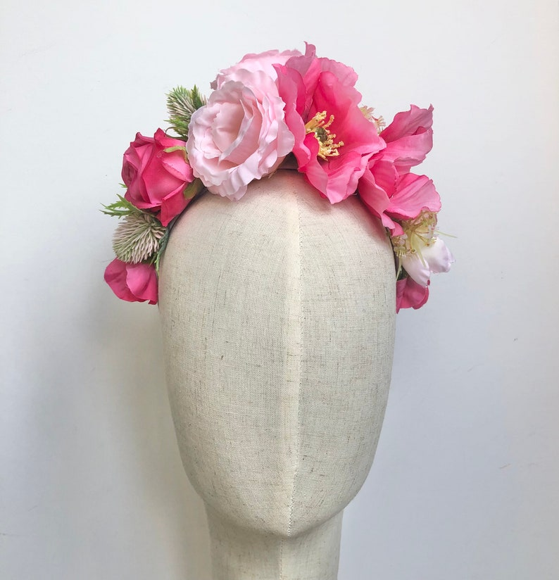 Lily the Pink floral hairband flower crown headdress image 0