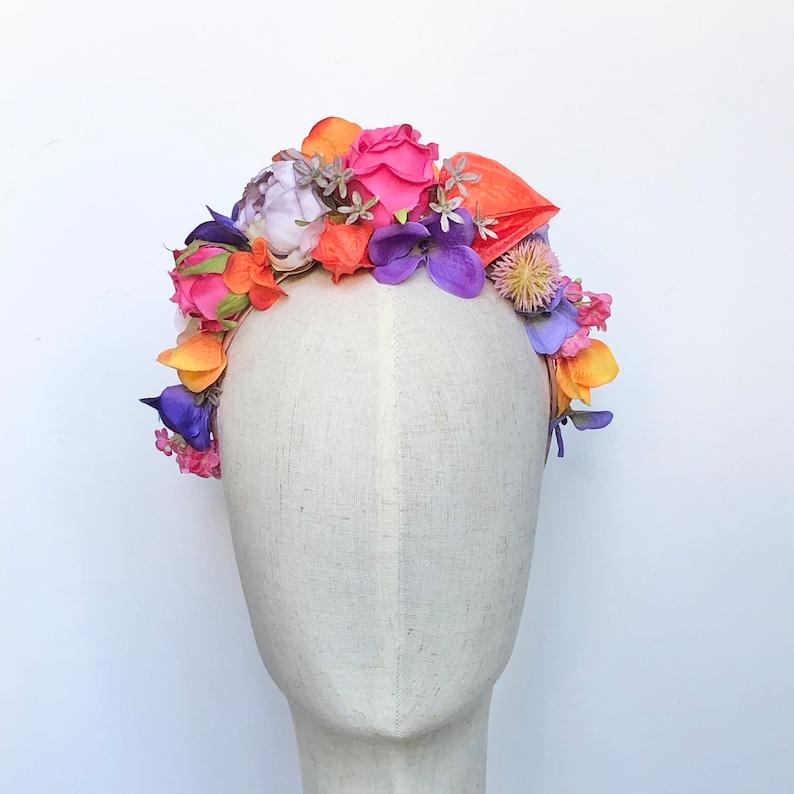 Sunset festival flower crown headdress hairband image 0