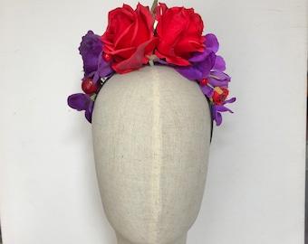 Frida Khalo headdress hairband flower crown