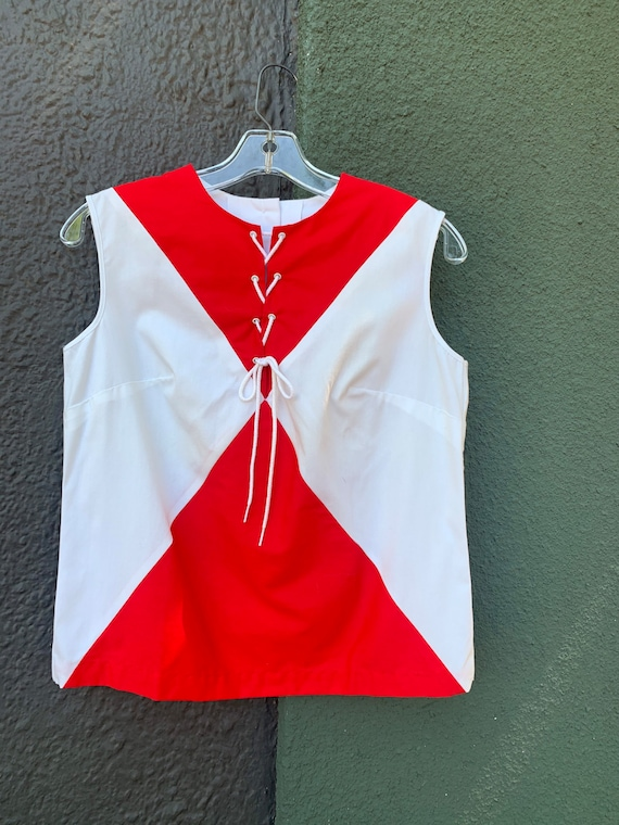 Vintage 60s Mode O' Day Mod color-block lace-up to