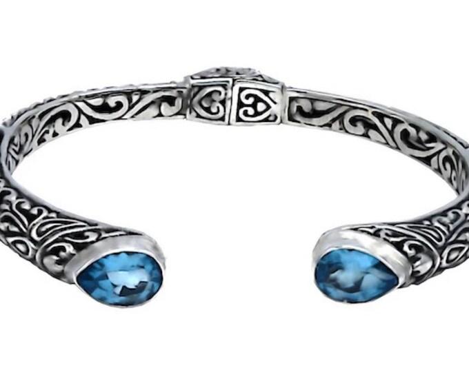 Blue Topaz Bangle