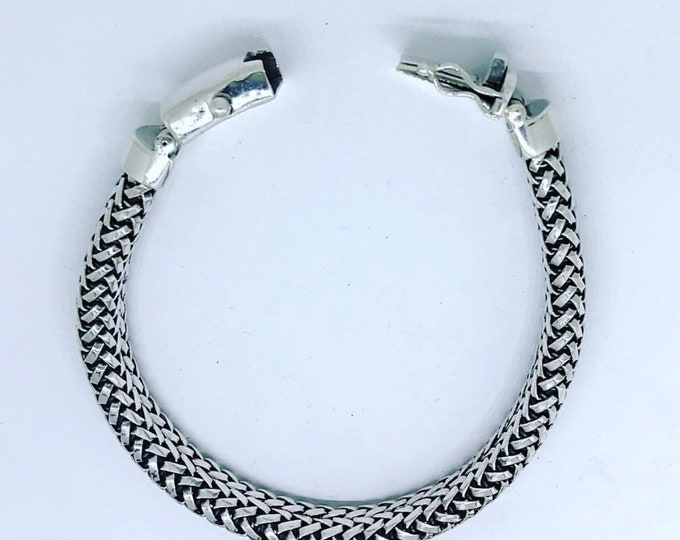 Braided Style Sterling Silver Bracelet