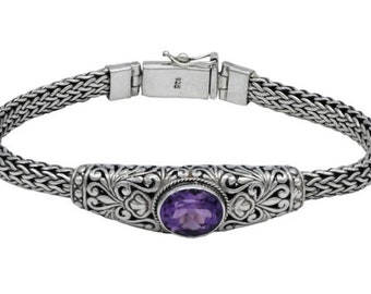 Genuine Amethyst Bracelet