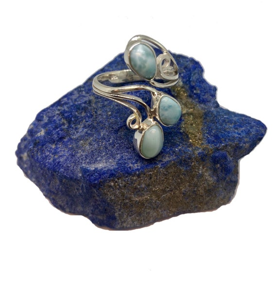 Larimar Sterling Silver Ring