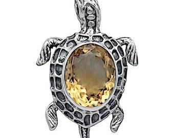 Silver Turtle Pendants