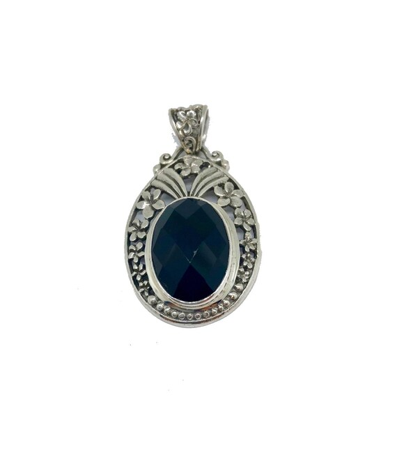 Black Onyx Sterling Silver Pendant