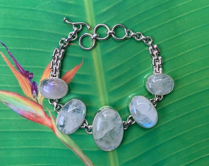 Moonstone Sterling Silver Bracelet