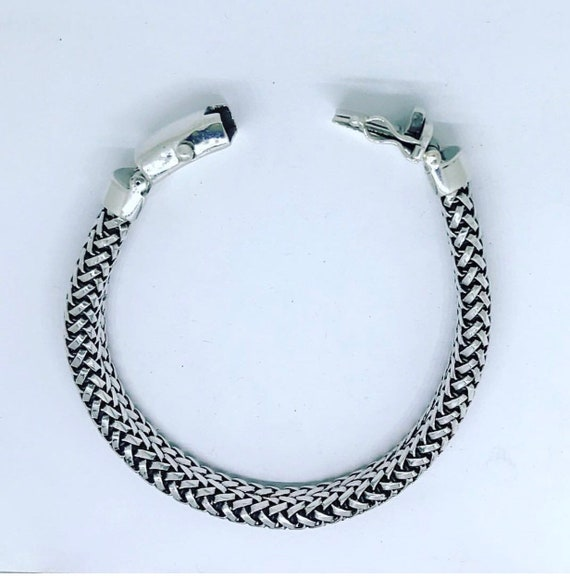 Braided Style Sterling Silver Bracelet