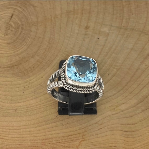 Blue Topaz Sterling Silver Set