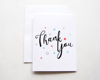 Hand-Lettered Thank You Card | Thank You Card