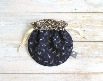 Japanese dragonflies pouch, Japanese cotton pouch