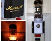 Vintage Vacuum Tube Valve Amber LED Night Light with Valve from a Marshall Guitar Amplifier