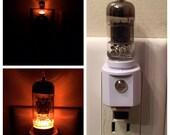12AX7 Style Vacuum Tube LED Night Light (7 Colors) Ham Radio TV Guitar Amp Steampunk