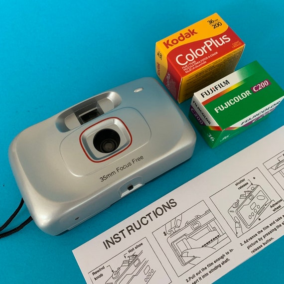 35mm Film Camera Starter Kit - Focus Free Point And Shoot Film Camera, Two  Rolls 35mm Film and Instructions