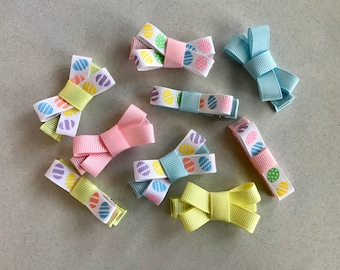 Easter Bows-Hair Clippies-Hair Bows-Infant-Toddler-Baby
