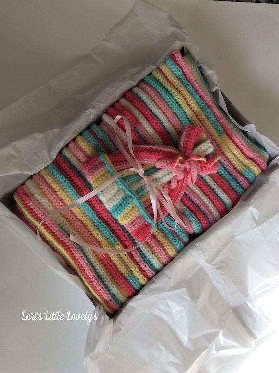 Baby girlblankethathandmade Handmade baby girl light weight blanket and hat set