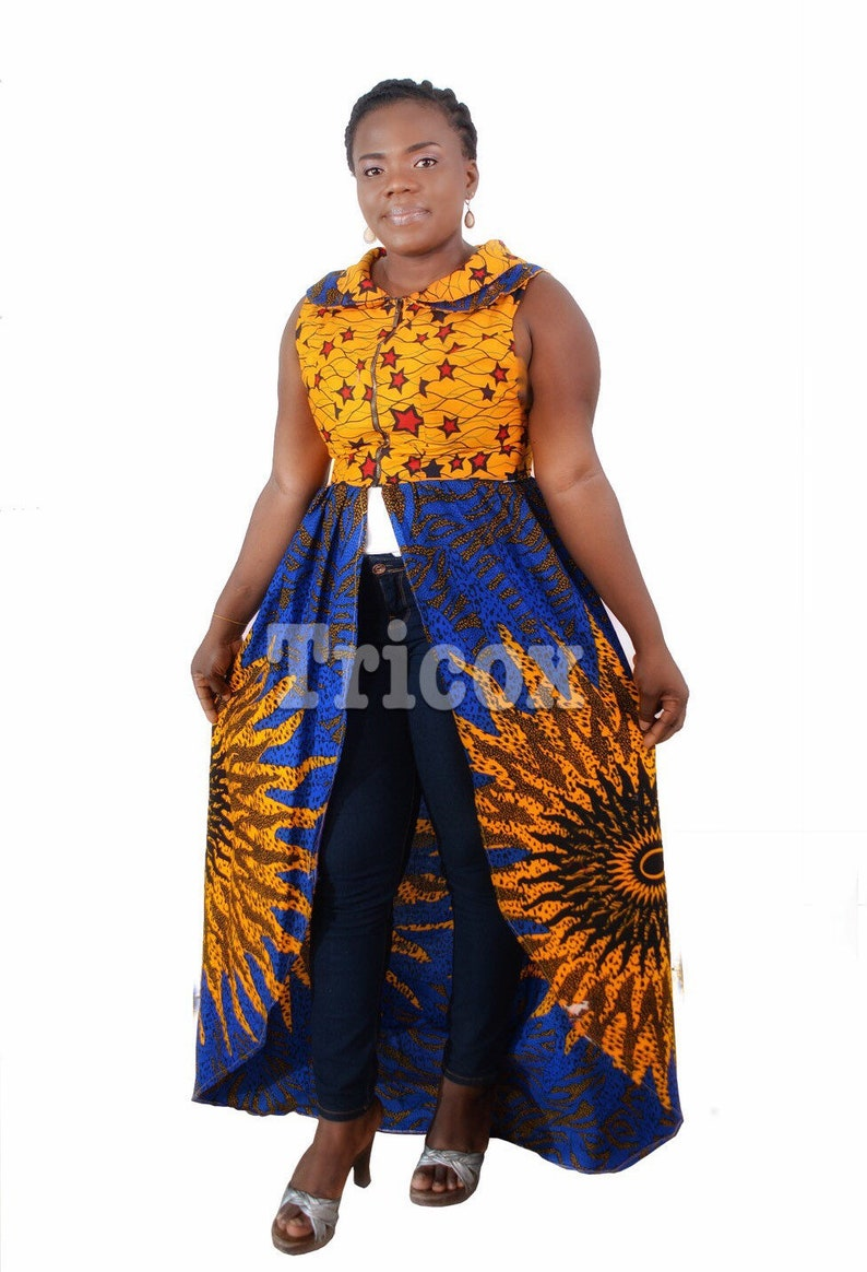 03090bc4dee African Print Top Long top Ankara Top Ankara Dress African