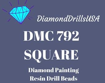 DMC 792 SQUARE 5D Diamond Painting Resin Drills Beads DMC 792 Dark Cornflower Blue