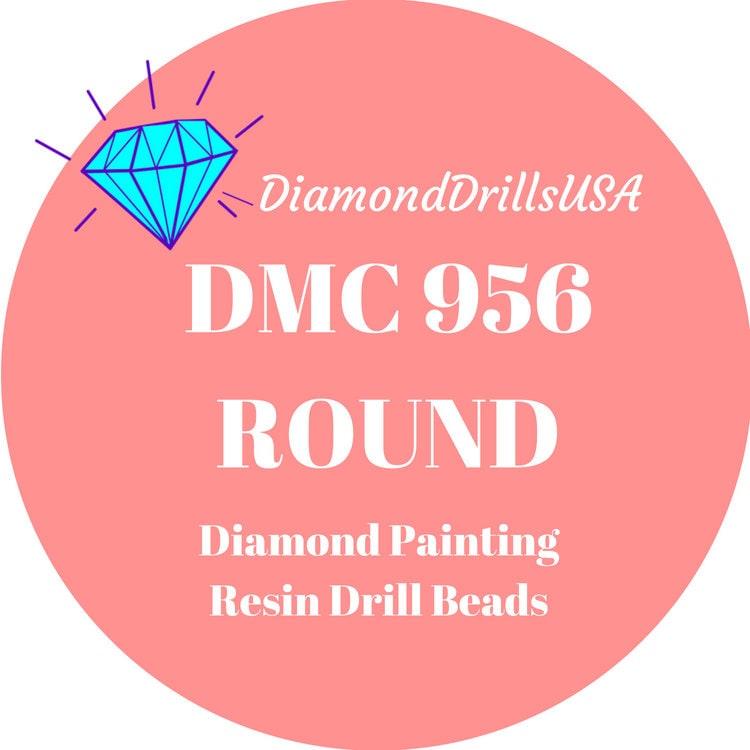 diamond painting DMC 956 square or round Strass for diamond painting