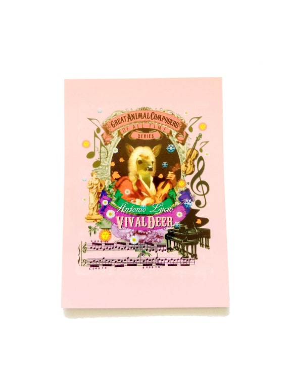Antonio Vivaldeer Postcard Vivaldi Quote There are no Words it/'s only Music there