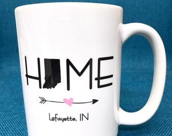 Personalized HOME Ceramic Coffee Mug