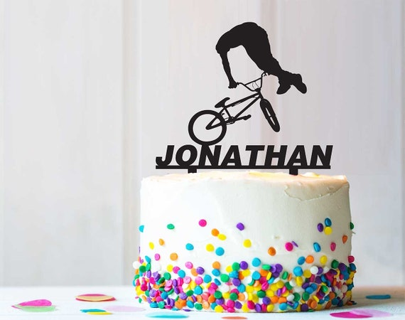 Marvelous Bmx Free Style Extreme Birthday Party Cake Topper Rusticunique Etsy Personalised Birthday Cards Petedlily Jamesorg