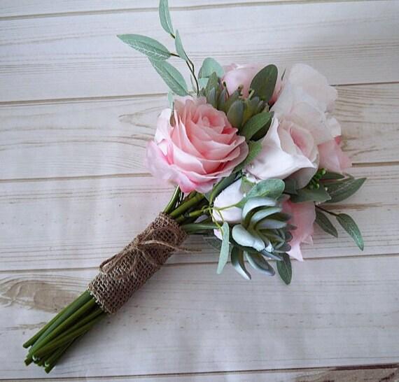 Brautstrauss Rose Hochzeit Bouquet Brautstrauss Leicht Rosa Etsy