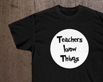 Teachers Know Things   Fun Teacher Gift   Math   Science   English   Art   School   FREE SHIPPING