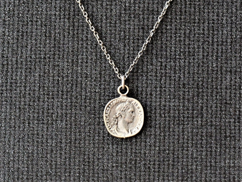 Free Shipping, Mens Necklace, Mens Silver Necklace, Mens Pendant Necklace,  Silver Coin Necklace, Silver Necklace, Necklace Men, Mens Jewelry