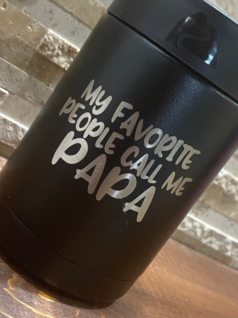 Custom Engraved  Etched Can /& Bottle Holder Cooler Dad Grandpa Papaw Father/'s Day Ozark Trail Gift Papa Bear