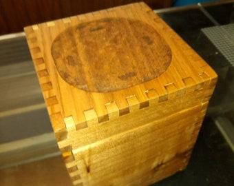 Butternut Keepsake Box solid wood