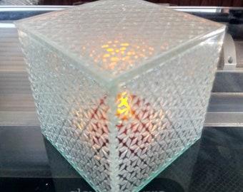 Sea Glass Acrylic Cube Lamp/Box (Kumiko)