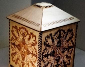 Oak pattern box