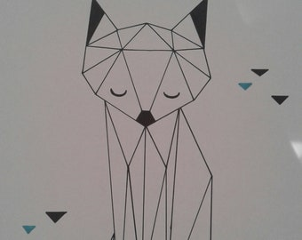 Frame with Origami design - Animal choice