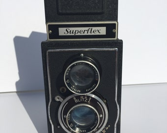 Vintage Twin Lens Reflex (TLR) Welta Superflex Camera Made in Germany -- USSR